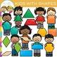 Kids With 2D Shapes Clip Art