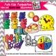 Math Kids and Math Manipulatives clip art