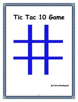 Math Lesson Plan - Tic Tac 10 Game
