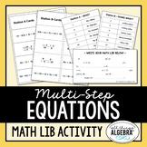 Multi-Step Equations Math Lib