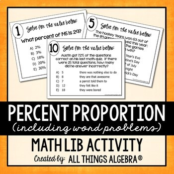 Percent Proportion Math Lib