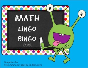 Math Lingo Bingo (Math Center Vocabulary Game)