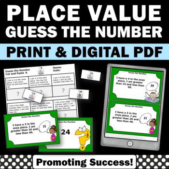 Place Value Problem Solving Task Cards Games & Worksheets
