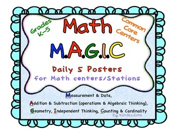 Math MAGIC Daily 5 Centers