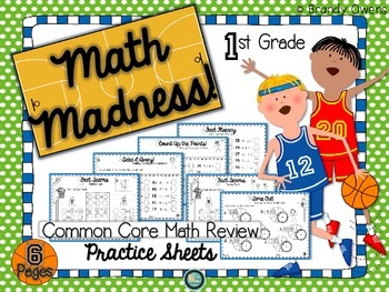 Math Madness! Common Core Math Review Practice Sheets for