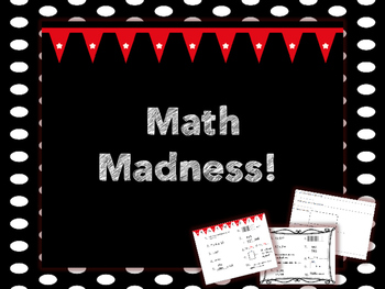 Weekly Math Review- Math Madness