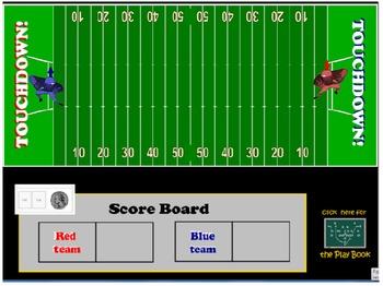 Math Madness SMART Notebook Football Game