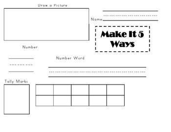 Math:  Make It 8 Ways