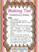 Math: Making Ten Numeracy Game {6 Themes} - addition and s
