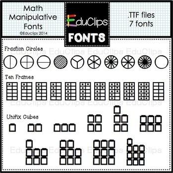 Math Manipulatives Fonts
