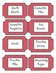 Math Manipulatives Labels