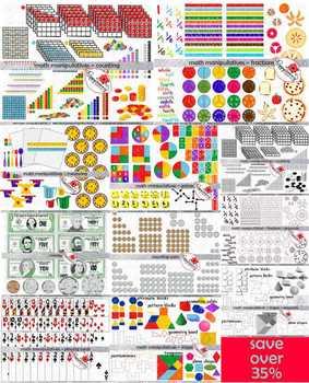 Math Manipulatives MEGA BUNDLE by Poppydreamz (COLOR AND L