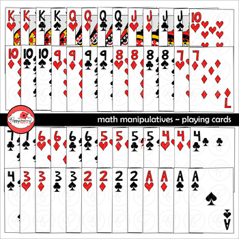 Math Manipulatives - Playing Cards Clipart by Poppydreamz