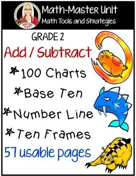 Addition / Subtraction: base ten, hundred chart, number li