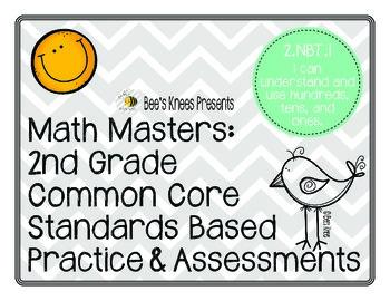 Math Masters: 2nd Grade Common Core Printables 2.NBT.1: Pl