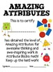 Math Mat Review Activity:  Attribute Blocks