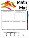 Math Mat Review Activity:  Gummy Worm