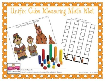 Math Mat Unifix Cube Measuring