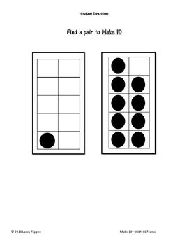 Math Match - Make 10 - Memory / Concentration /  Go Fish