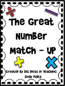 Math Match Up: Greater than, Less than, Equal to Math Prob