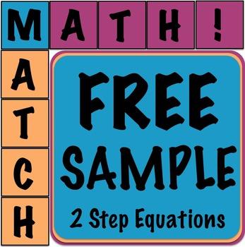 Math Matcher Puzzle - 2 Step Equations