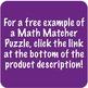 Math Matcher Puzzle - Dividing Whole Numbers