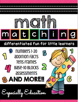 Math Matching 1-20 (Independent stations)