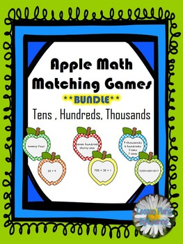 Standard to Expanded Form Matching Games - 10's, 100's, 1,