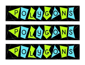 Math Mathematics Polygons Geometry Bulletin Board Border P