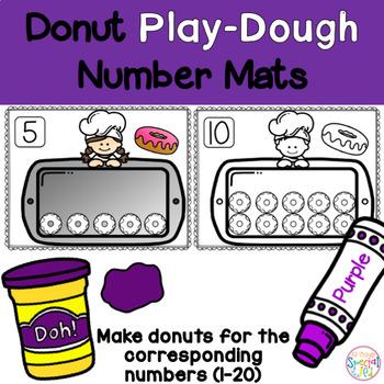 Math Mats, Play-doh donut number mats