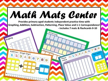 PRINTABLE Math Mats Center -Addition Subtraction Place Val