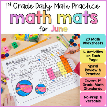 Summer Math Review Worksheets for First Grade