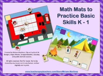 Math Mats to Practice Basic Skills