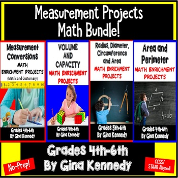 Math Measurement Enrichment Products BUNDLE, Area, Radius,