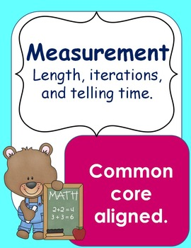 Telling time and measurement workbook.