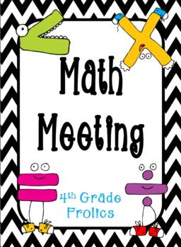 Math Meeting - Headers - Lime and Black and White Chevron