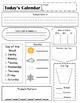Math Meeting Student Worksheet Version 1