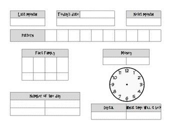 Math Meeting Worksheet