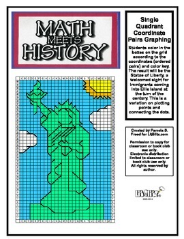 Math Meets History - Statue of Liberty Mystery Picture - C