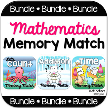 Math Memory Match PowerPoint Bundle