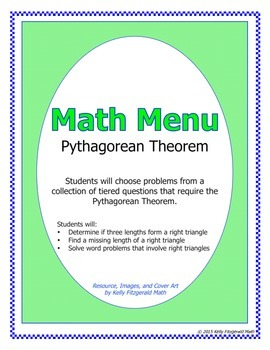Math Menu: Pythagorean Theorem