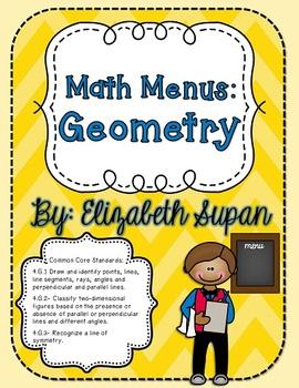 Math Menus: Geometry