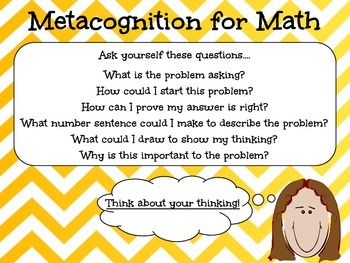 Math Metacognition Poster