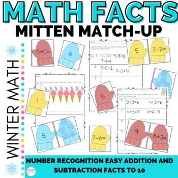 Math Mitten Number Sense and Easy Computation Add & Subtra