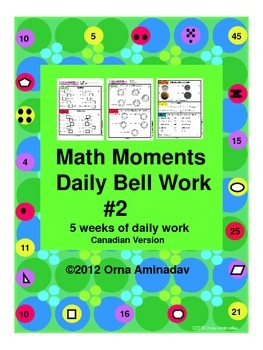 Math Moments Daily Bell Work Practice # 2 Canadian Version