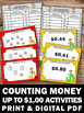 Counting Coins up to $1.00 Money Task Cards Games Workshee