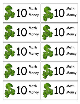 Math Money for Rewards and Bonus