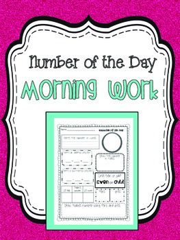 Math Morning Work {Number of the Day}