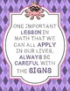 Math Motivational Posters Wall Decor Smart Octopus Themed Quotes