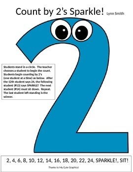 """Math Multiplication Chant """"Count by 2's Sparkle!"""""""